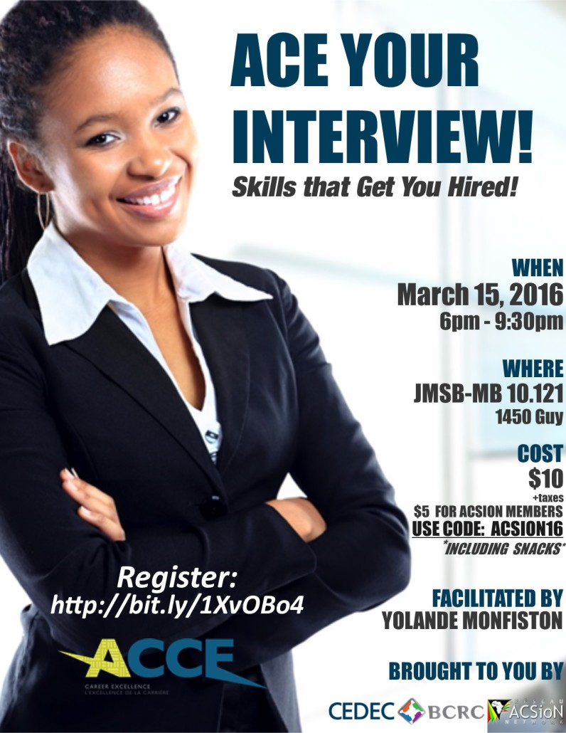 Nice INTERVIEW WORKSHOP: ACE YOUR INTERVIEW: Skills That Get You Hired Throughout Interview Workshop
